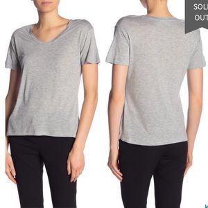 Vince Scoop Neck Short Sleeve T-Shirt grey M